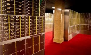 Safety deposit boxes in Merrion Vaults